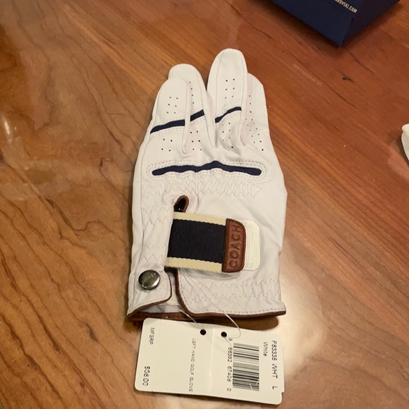 White Coach Golf Glove